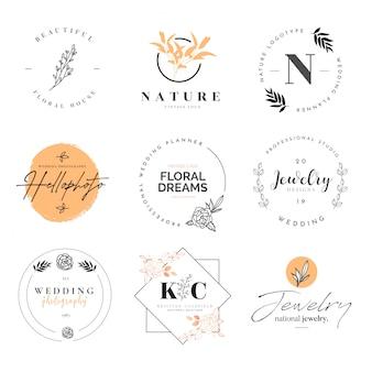 Bela coleção de logotipos