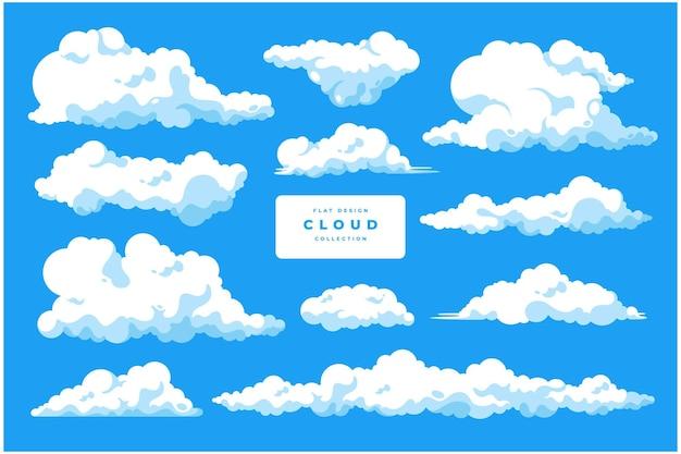 Bela coleção de modelos de vetor em nuvem
