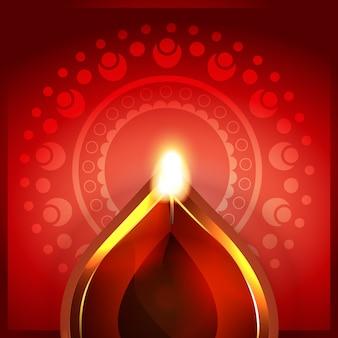 Bela diya design com decoração de mandala