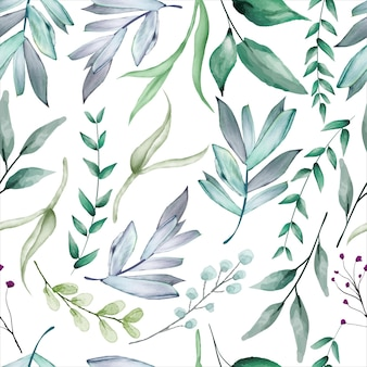 Bela flor suculenta aquarela padrão sem emenda