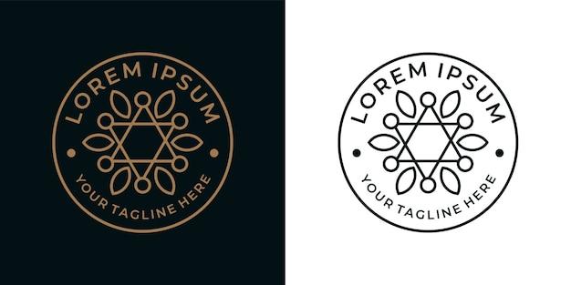 Bela geometria design de logotipo vintage
