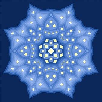 Bela ilustração cósmica com desenho abstrato estrelado isolado