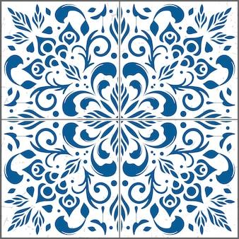 Bela ilustração do padrão de azulejos decorativos.