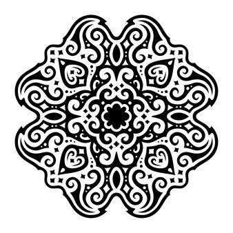 Bela ilustração monocromática com padrão abstrato vintage estrelado isolado