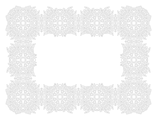 Bela ilustração vetorial monocromática para a página do livro para colorir de são valentim com moldura vintage detalhada isolada no fundo branco.