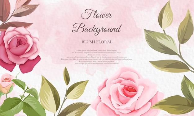 Bela mão desenhando flores de fundo
