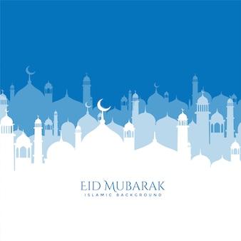 Bela mesquita cena eid mubarak fundo