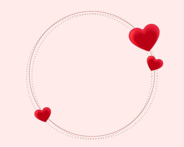 Bela moldura de corações para o dia dos namorados