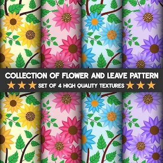 Bela natureza da flor e deixa texturas de alta qualidade padrão e sem costura.