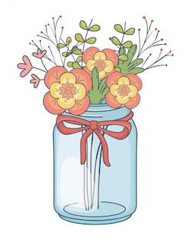 Bela natureza flores dos desenhos animados