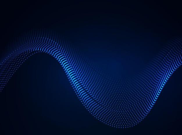 Bela onda em forma de matriz de pontos brilhantes. elemento de design abstrato.