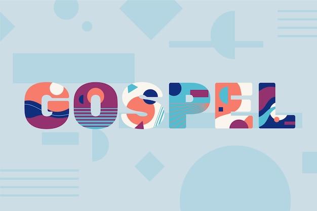 Bela palavra do evangelho religioso