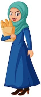 Bela personagem de desenho animado árabe