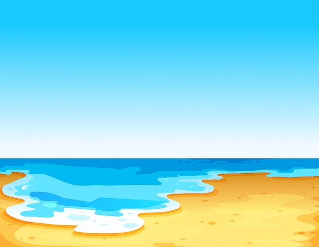 Bela vista do mar
