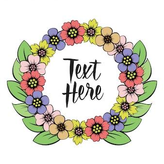 Belas fronteiras bordadas design floral