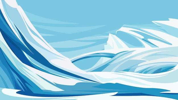 Belas montanhas geladas. natureza do pólo norte.
