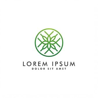 Beleza abstrata flor logotipo design ilustração