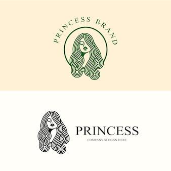 Beleza do logotipo da princesa