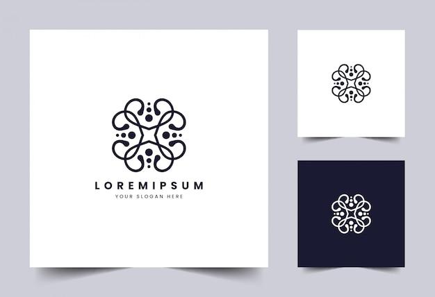 Beleza e modelo de logotipo simples
