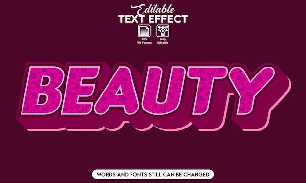 Beleza efeito de texto editável