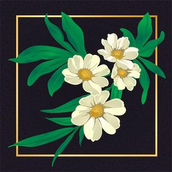 Beleza flor branca folha vintage natureza