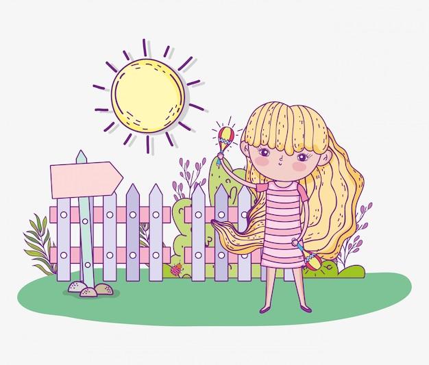 Beleza menina jogar maracas com sol