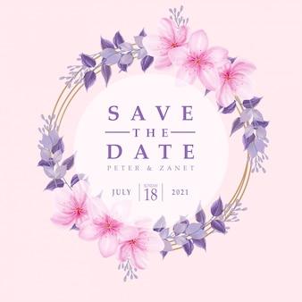 Beleza rosa aquarela casamento evento convite moldura flor floral modelo editável