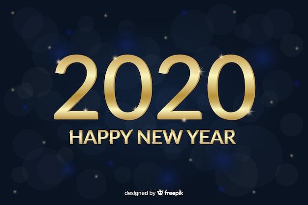 Belo ano novo dourado 2020