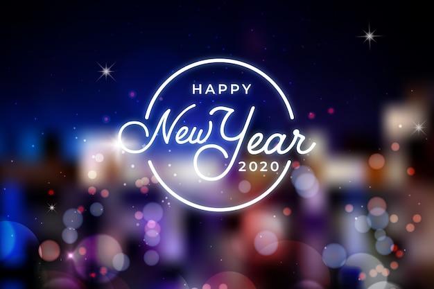 Belo ano novo turva 2020 Vetor grátis