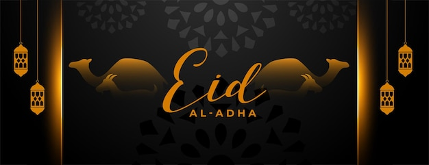 Belo banner do festival bakrid eid al adha