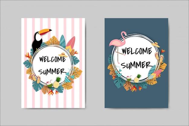 Belo cartão de verão
