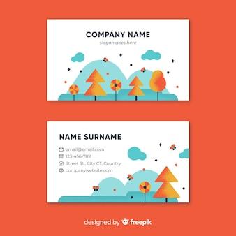 Belo cartão de visita com a natureza ou conceito eco