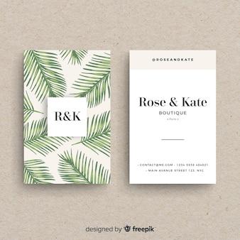 Belo cartão de visita com design de natureza