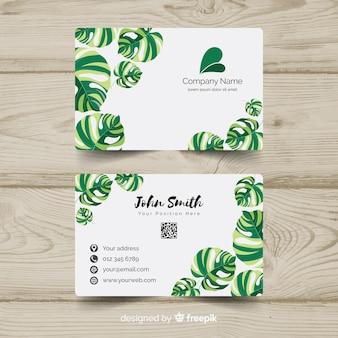Belo cartão de visita com o conceito de natureza