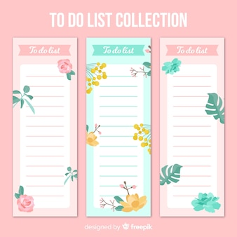 Belo conjunto de listas de tarefas