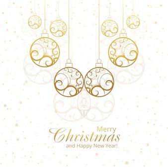Belo design de bolas decorativas feliz natal