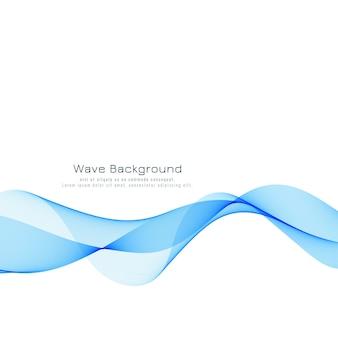 Belo design de fundo de onda azul