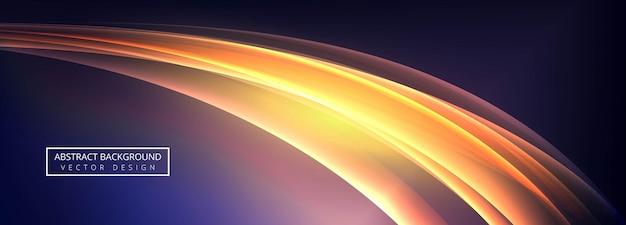 Belo design de modelo de banner de onda criativa
