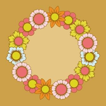 Belo design floral arredondado