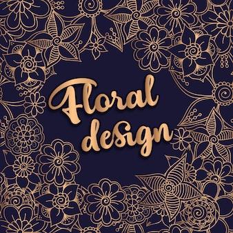 Belo design floral. ilustração vetorial