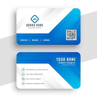 Belo design profissional de cartão de visita azul