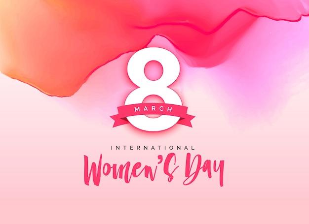 Belo dia das felicitações do dia das mulheres internacionais
