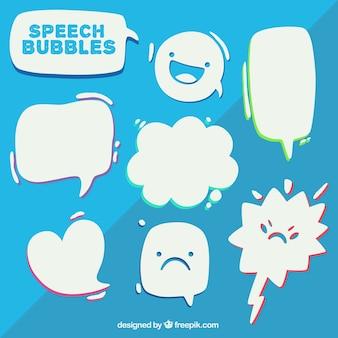 Belo discurso bolhas pacote