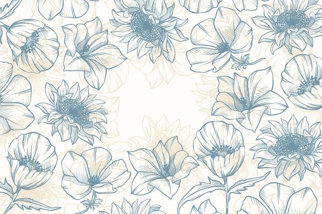 Belo e criativo design de papel de parede floral