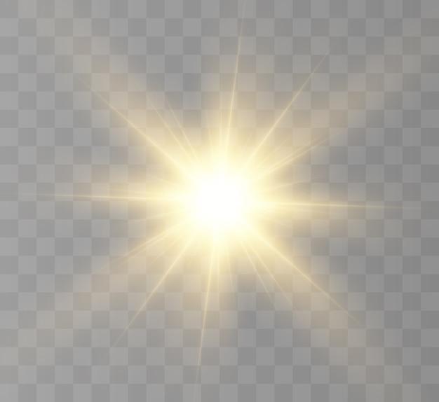 Belo efeito de luz brilhante