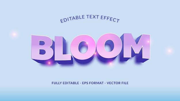Belo efeito de texto editável em bloom