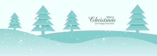 Belo feliz natal banner modelo projeto vector