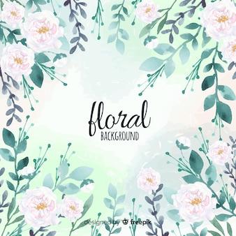 Belo fundo aquarela floral