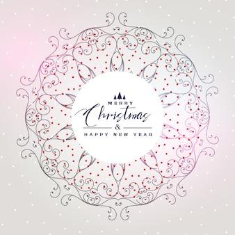 Belo fundo de natal com decoração de mandala