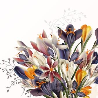 Belo fundo floral